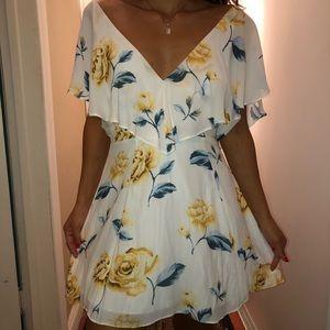 floral chiffon mini dress